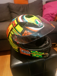 AGV K3 Rossi helmet and rst gloves Croydon Maroondah Area Preview