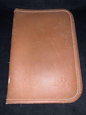 Rare - Ll Bean Adventure Portfolio Folder Planner Leather Brown
