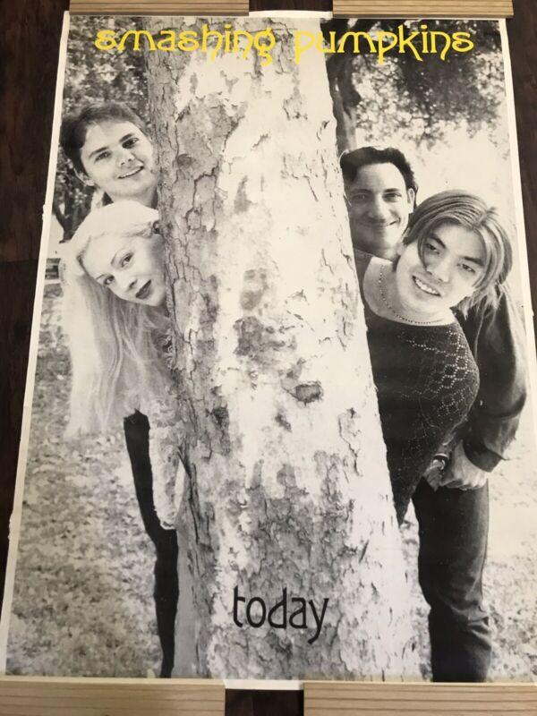"Huge Vintage Large Smashing Pumpkins Today Poster Rare 60""x30"" Band"