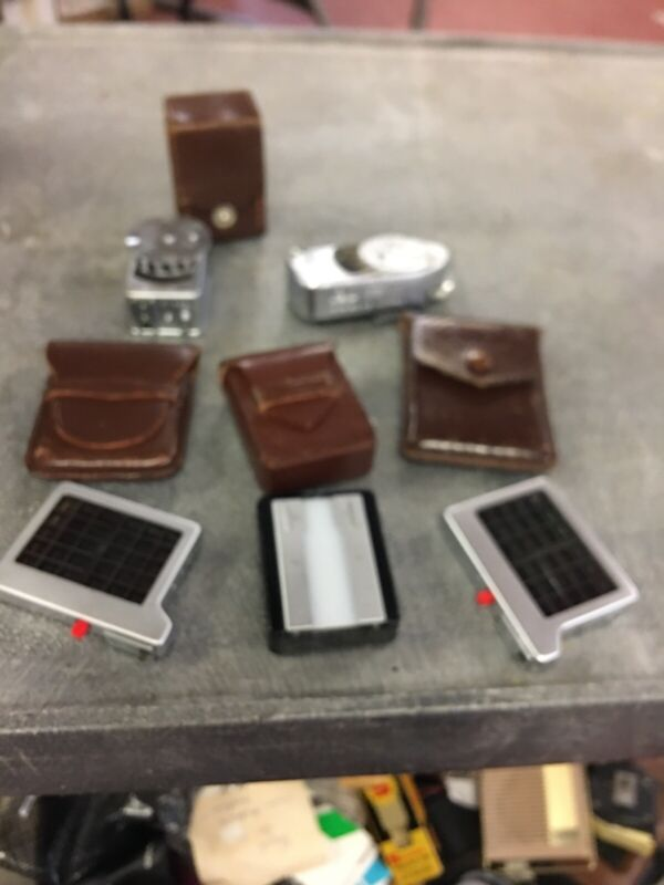 Lot Of 5 Leica Camera Meters And Boosters