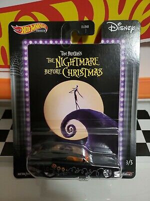 HOT WHEELS PREMIUM DISNEY NIGHTMARE BEFORE CHRISTMAS '59 CADILLAC FUNNY CAR 3/5