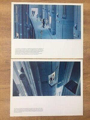 X2 Vintage Star Wars Portfolio Ralph McQuarrie Print Original 1977 Concept Art
