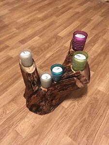 Handmade maple candle holder