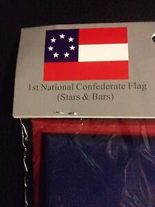 CONFEDERATE Southern States Stars and Bars 7 Star Flag First National 3'X5' NEW