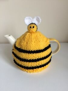 Small Knitted Bee Hive Tea Cosy *New And Handmade*