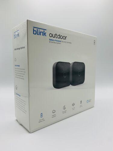 Blink Outdoor WiFi 2-Camera Security System | LATEST Model works w/ Alexa