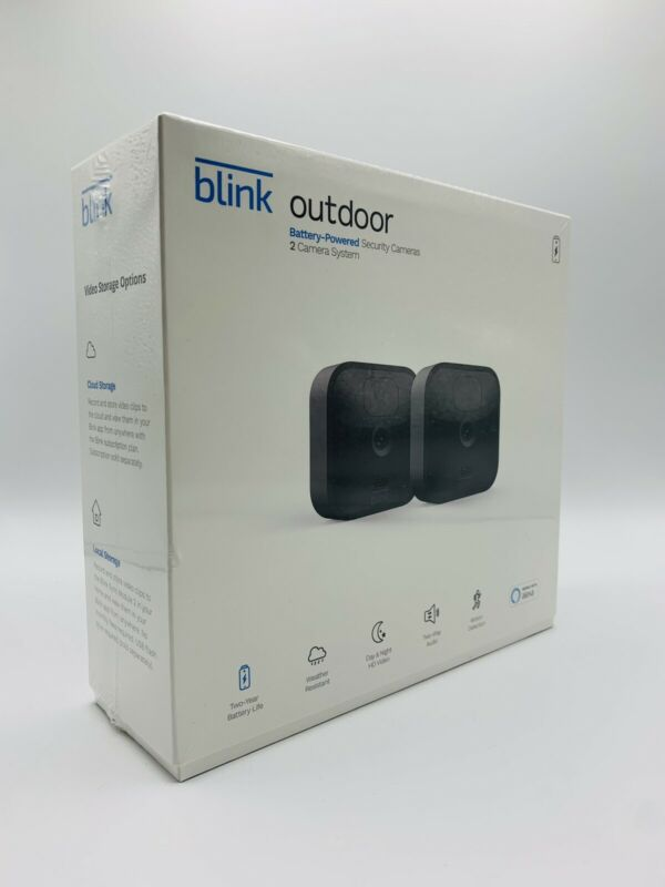 Blink Outdoor WiFi 2-Camera Security System | 2020 Newest Model works w/ Alexa