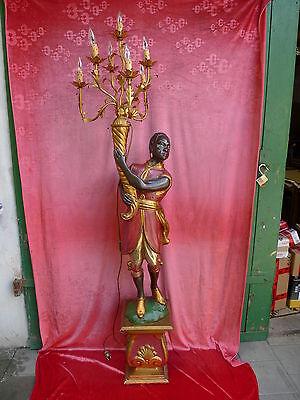 schöne,alte Lampe__Holz geschnitzt und gefasst__200cm__Figurenlampe___ !