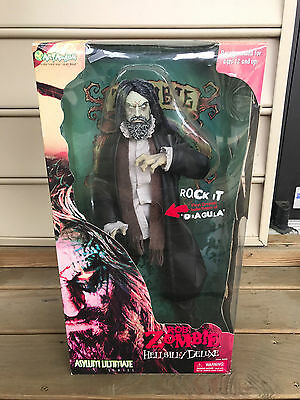 """18"""" Rob Zombie Hellbilly Deluxe Asylum Ultimate Action Figure Doll Toy With Box"""