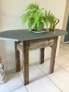 Natural stone and wood table