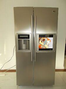 "LG Titanium Fridge Freezer + 15"" TV 613L Side By Side GR-G227TVS Ashmore Gold Coast City Preview"