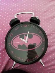 pink and black sparkly Batman wall clock