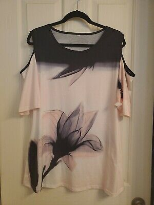 Womens Cold Shoulder Top L/xl, New W/o Tag