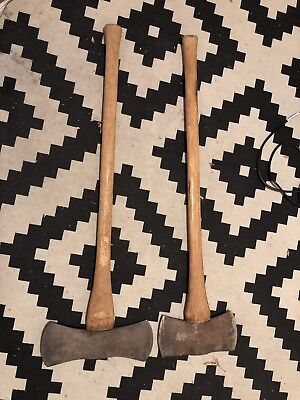 Lot Of Two Double Sided Axes - Collins And ??? - Double Sided Axe