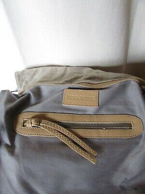 Sac zadig et voltaire cuir beige/sable et toile tissée grise