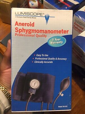 1 Lumiscope Professional Aneroid Sphygmomanometer With Adult Cuff 100-001