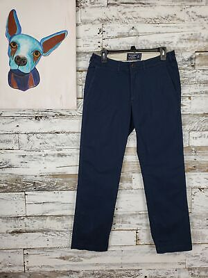 Abercrombie & Fitch Mens Kennan Straight Stretch Chinos Navy Size 29x30