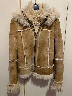 giacca in montone D&G con cappuccio rimovibile chiusura lampo