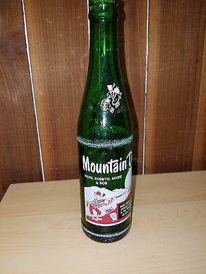 Vintage Mountain Dew Bottle - Mark, Robbyn, Marie & Bob Rare Hillbilly Green