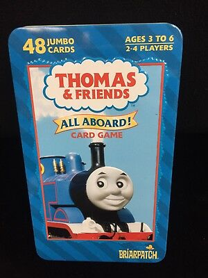 Thomas & Friends All Aboard Card Games Tin Can 48 Jumbo Cards 3 Games COMPLETE