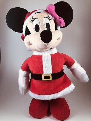 """Disney Minnie Mouse Plush Toy Singing """"We Wish You A Merry Christmas"""""""