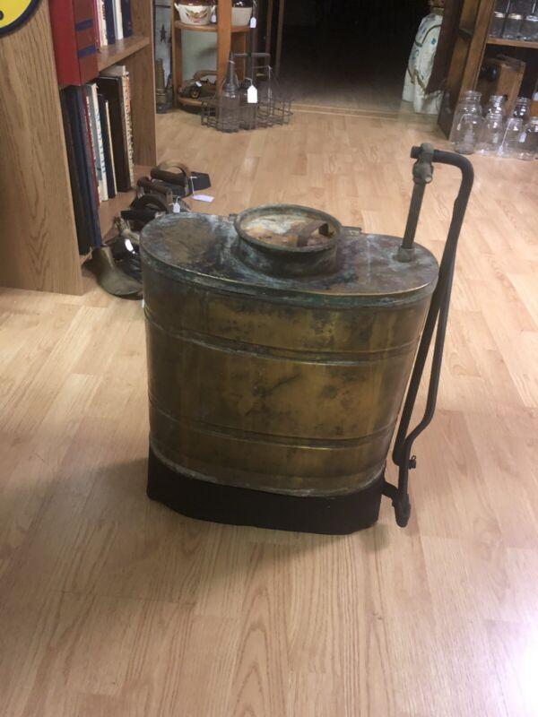 Antique Brass Back Pack Sprayer