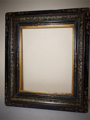 "Antique Victorian Eastlake Carved Wood Picture Frame, 8"" x 10"""