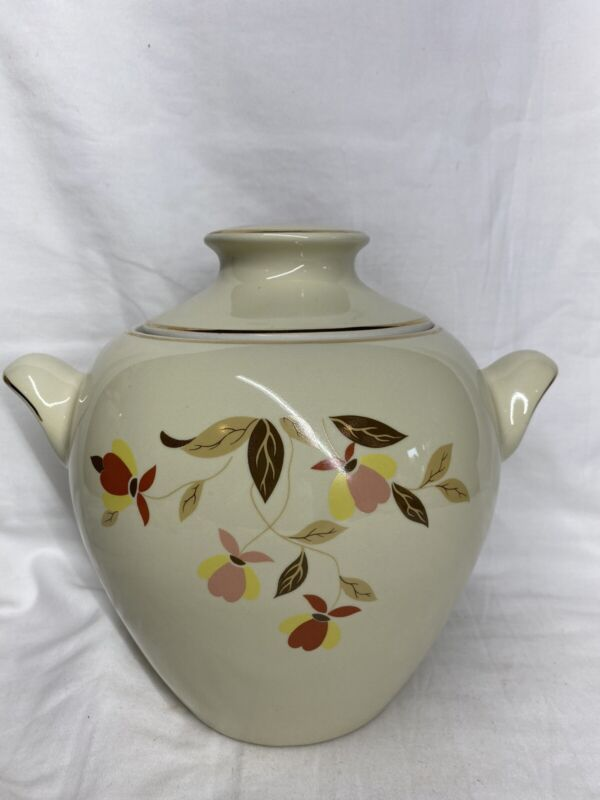 1978 HALL CHINA AUTUMN LEAF JEWEL TEA EVA ZIESEL COOKIE JAR