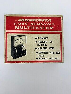 Vintage Micronta 1000 Ohms Volt Multitester Cat Radio Shack
