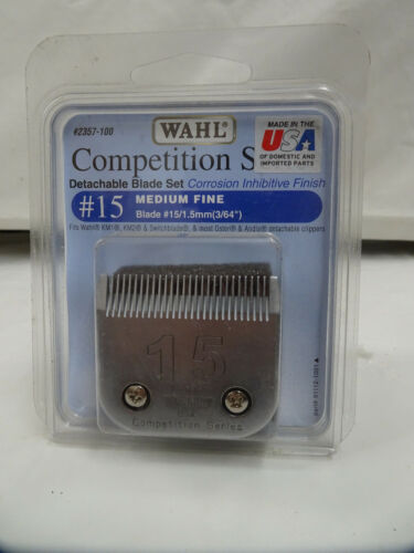 Wahl No. 15 Medium Fine Competition Replacement Clipper Blade