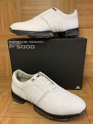 RARE🔥 Adidas Porsche Design Sport P'5000 Men's GOLF Shoes Sz 12.5 US 12UK White