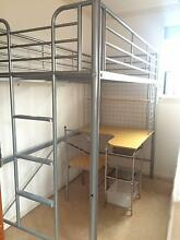 Single bunk bed metal frame with desk, chair and shelf Kensington Eastern Suburbs Preview