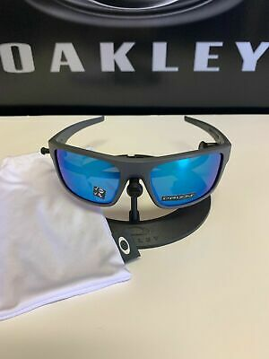 Oakley Drop Point POLARIZED Sunglasses OO9367-0660 Matte Grey W/ PRIZM SAPPHIRE