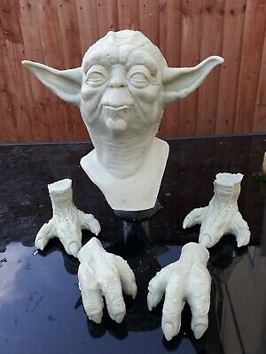 1:1 scale yoda kit head, hands, feet.bust prop (rawcast) star wars