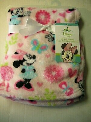 Disney Minnie Mouse Baby Blanket By Disney Baby, Pink, Brand new