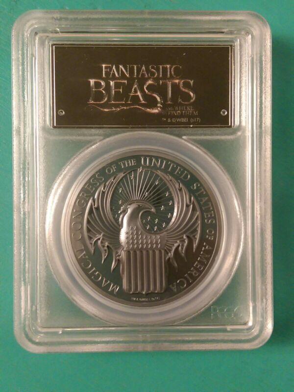 Cook Islands 2017 5 Dollars 1 Ounce Silver Fantastic Beasts PR69 DCAM PCGS FS