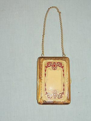 Edwardian German Silver Enameled Compact / Necessaire