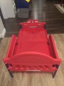 Toddler Bed (Cars) w/ Mattress in excellent use!  Kitchener / Waterloo Kitchener Area image 2
