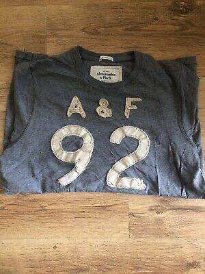 Abercrombie & Fitch Light Grey T-Shirt Size Large