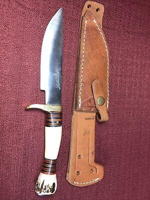 Blackjack Rarer Knife Stag Leather Sheath Beautiful Classic Blades