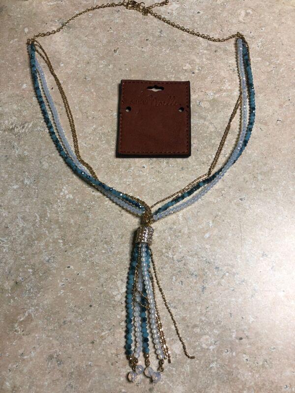 Simply Noelle Crystal Bead Tassel Necklace