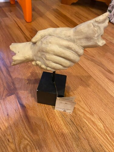 VITRUVIAN COLLECTION TMS INC SCULPTURE STATUE HAND SHAKING w TAG - WATCH DISPLAY