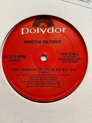 "Agnetha Faltskog / Abba : Can't Shake Loose 12"" PROMO NEAR MINT"