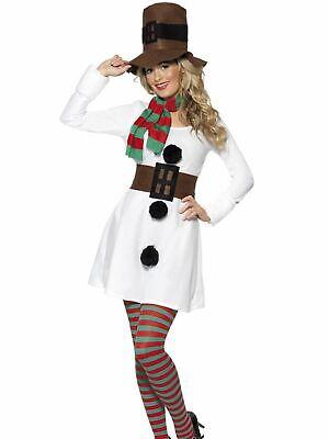 Snowman Womens Costume  Christmas Fancy Dress Costume Outfit (Womens Christmas Fancy Dress Outfits)