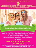 Middlesex County Craft Festival June 22-23rd!