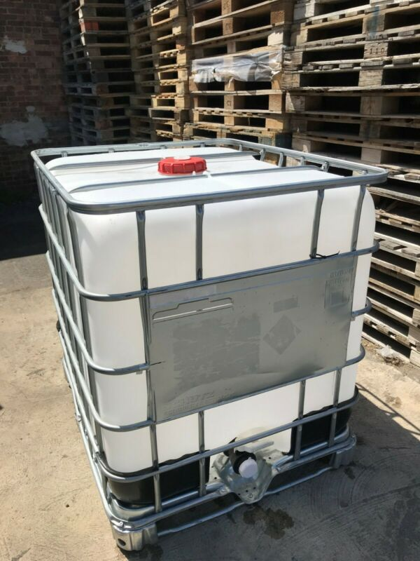 IBC Tote 250 Gallon (power-washed after isopropyl 99.8%)