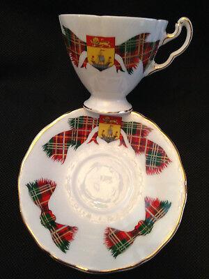 Adderley English Bone China Cup & Saucer New Brunswick Tartan Plaid Gold Trim