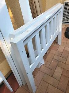 King single white wooden bed Chermside West Brisbane North East Preview