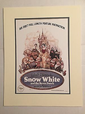 SNOW WHITE LITHOGRAPH POSTER - DISNEY STORE EXCLUSIVE - RARE