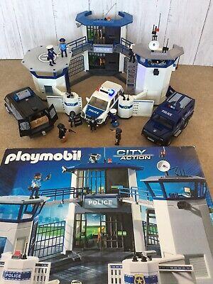 Playmobil Police Station HQ With Jail 6919 6872 Riot Van Car 4043 6920 5187 HUGE